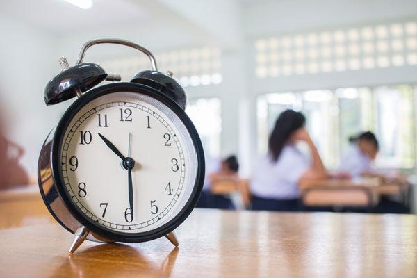 Gestión del tiempo en examen computer based